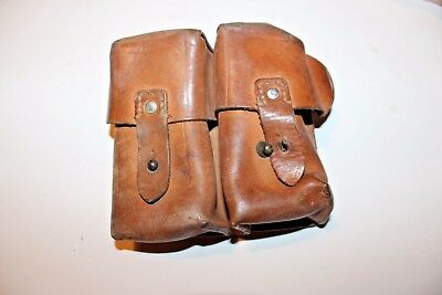 Yugoslavian SKS Leather Dual Cell Ammo Pouch FAIR Y45