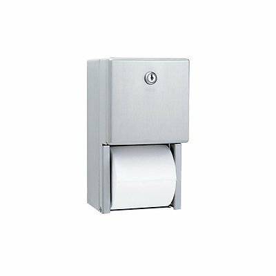 Bobrick B-2888 Classic Series Surface-Mounted Multi-Roll Toilet Tissue Satin