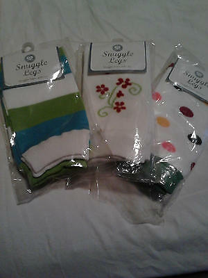 Lot of 3 Snuggle Legs Baby Toddlers Knee High Socks Tights Leg Warmer Stockings