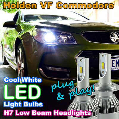Plug-and-Play H7 6500K LED Headlight Bulbs to suit Holden VF Commodore Low Beam