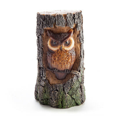 Owl Colout Changing LED Trunk Table Night Light Bedside Novelty Lamp Statue
