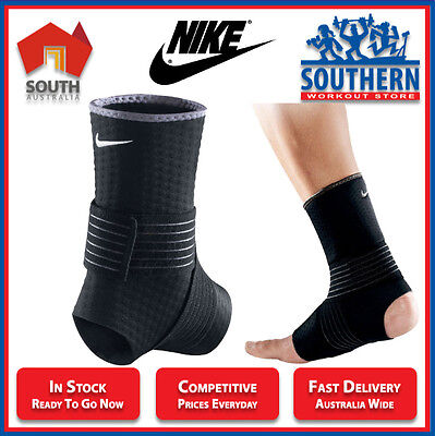 Nike Ankle Wrap Compression Support Comfort Gym Fitness Injury Protection