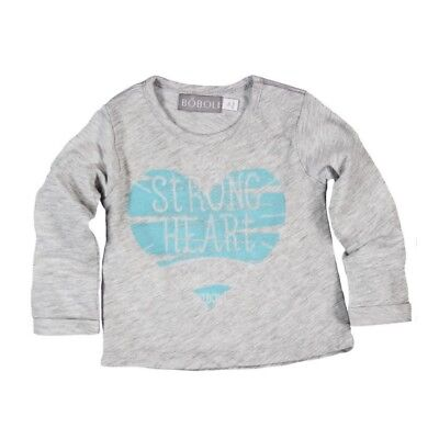 Bóboli Girls Baby Long Sleeve Shirt Heart grey sz. 62 68 74 80 86 92