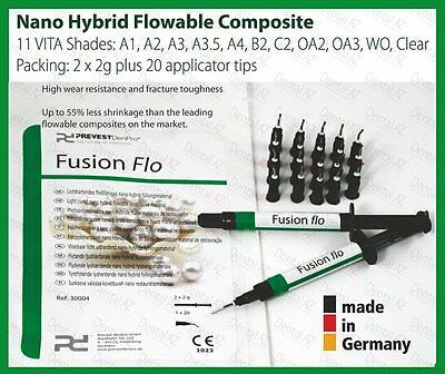 Clear / Incisal Light-Curing Flowable Fine Hybrid Nano Dental Composite 2 x 2g