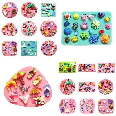 Silicone Mould For Polymer Animal Clay Candy Chocolat Fondant Cake Sugarcraft