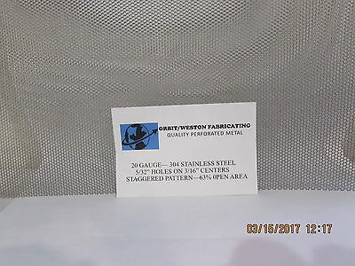 "20 Gauge 5/32"" Holes 304 Stainless Steel Perforated Sheet  11"" X 12"""