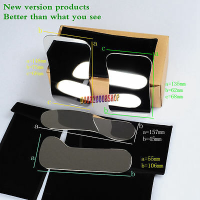 Dental 4*Intraoral Clinic Photography Mirror +Background Board 2Pcs