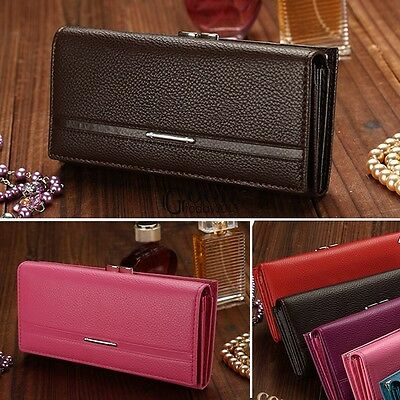 Women Lady Leather Wallet Purse Long Handbag Clutch Bag Card Holder PU New Hot