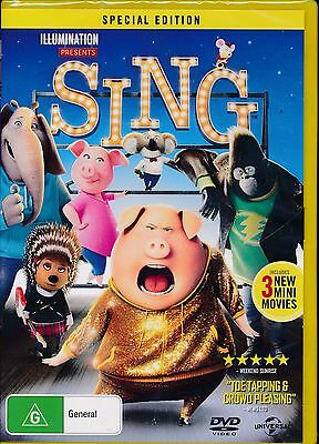 SING Special Edition DVD NEW Region 2 4 and 5