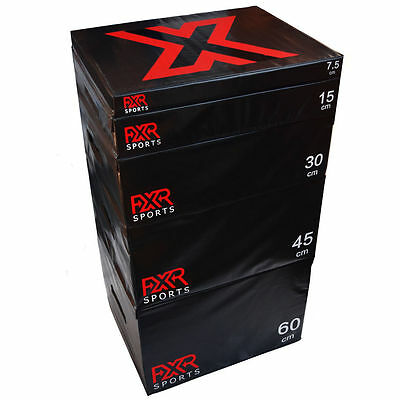 Fxr Sports Foam Attachable Plyometric Plyo Jump Training Squat Box Set 5 Sizes