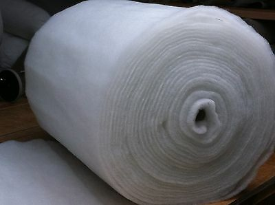 """4oz BEST QUALITY /& PRICE 27/"""" WIDE POLYESTER WADDING 3MTR UPHOLSTERY QUILTING"""
