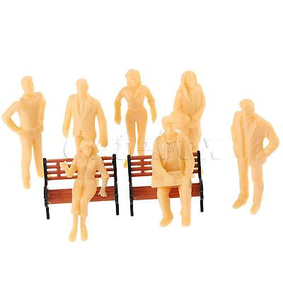 Great Collectible Plastic Model Train 1:25 People Figures 20pcs Layout Diorama