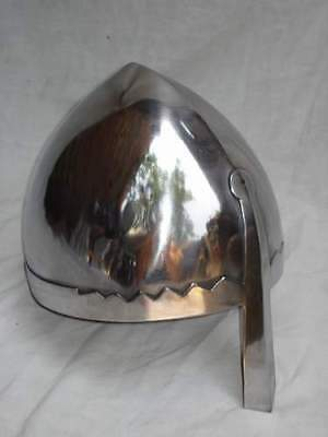 Norman Nasal Helmet w/ Chin Strap, Knight Crusader Larp, Role Play, Fancy Dress,