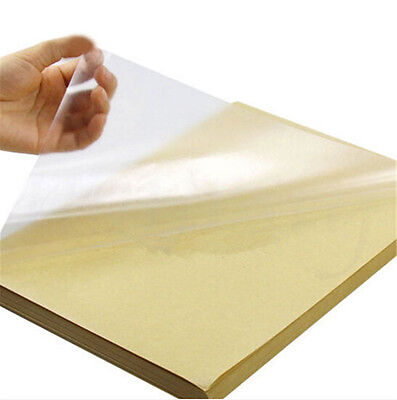 2/5/10pc A4 Clear Transparent Film Self Adhesive Sticker Paper For Laser Printer