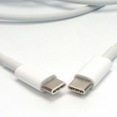 2M USB-C USB 3.1 Type C Male to Male Transfer Charge Cable For Macbook White