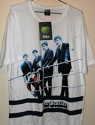 'the Beatles' Mens S/s T-Shirt Bnwt's - White/size L