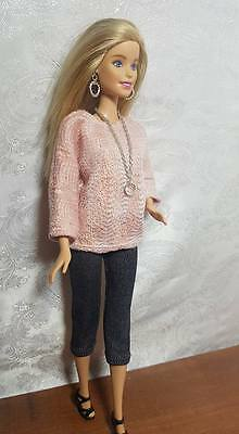 """Light pink and grey ski pants set  for Silkstone and other 11.5"""" fashion dolls"""