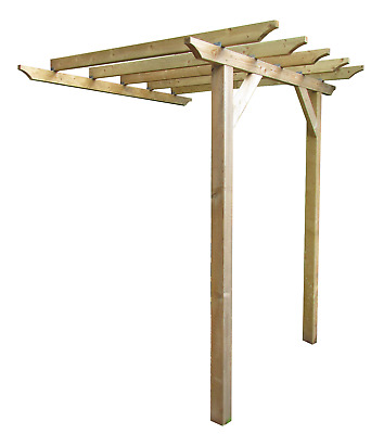 2m x 2.9m Lean to style wooden garden pergola - NEW - various post lengths