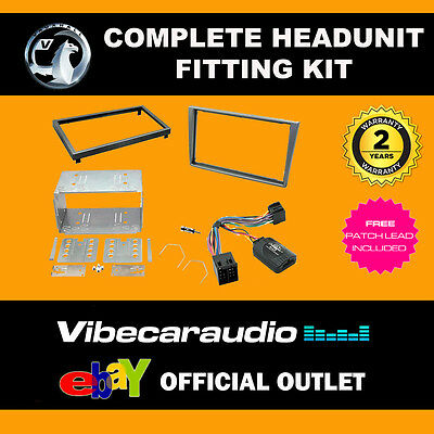 Connects2 CTKVX07 Vauxhall Omega Double Din Stereo Silver Fascia Fitting Kit