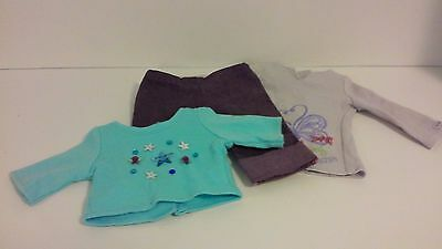 "18"" American Girl  2 Shirts and 1 pr. Jeans Authentic EUC"