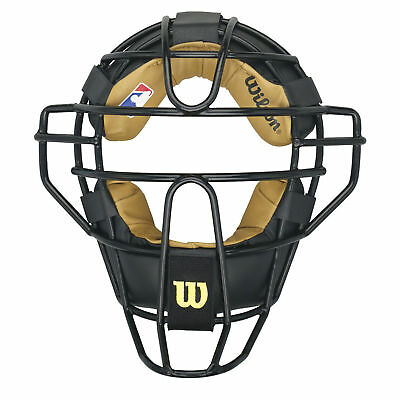 Wilson Steel Adult Baseball/Softball Umpire Mask - Black
