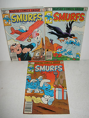 lot of 3 Marvel Comics Smurfs # 1 2 3 Nice Set