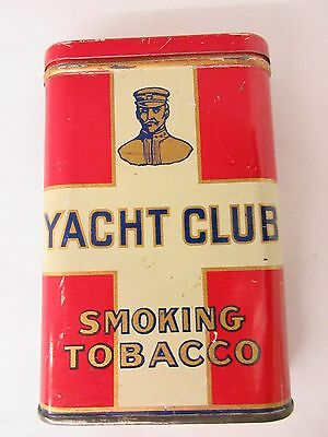 Vintage Advertising Rare Yacht Club Tobacco Vertical Pocket Tin Exc Cond  795-Y