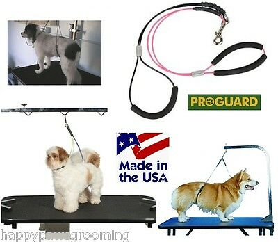 NO SIT LIE DOWN Heavy Duty BIG DOG Grooming Cable Loop RESTRAINT Harness System