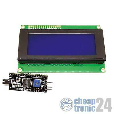LCD 2004 Blau HD44780 I2C Interface Display Anzeige Bildschirm Arduino Raspberry