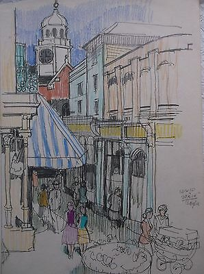 COLOURED GRAPHITE DRAWING by FREDERICK GEORGE WILLS 1901-1993 R.I.TUNBRIDGE WELL