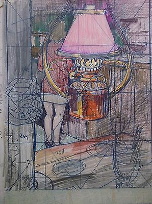 COLOURED GRAPHITE DRAWING by FREDERICK GEORGE WILLS 1901-1993 R.I. PENZANCE