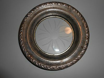 Antique ashtray silver plated decorated no maker marked lv rm