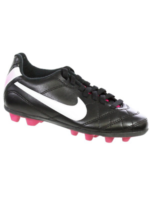check out e0db1 99733 NIKE JR TIEMPO RIO INTERCHANGE FG-R Youth Soccer Cleat Black White  Fireberry 11C