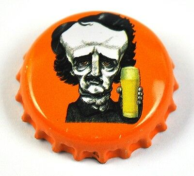 Raven Beer Bier Edgar Allan Poe Kronkorken USA Soda Bottle Cap orange