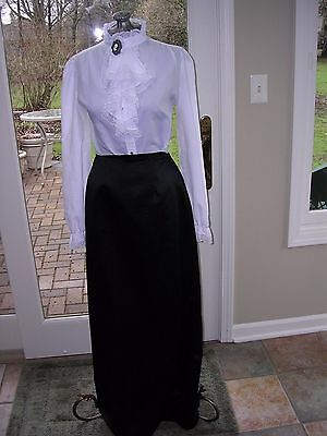 #82 WOMENS NICOLE MILLER LONG BLACK  SKIRT~VICTORIAN COSTUME M TALL sz (12)