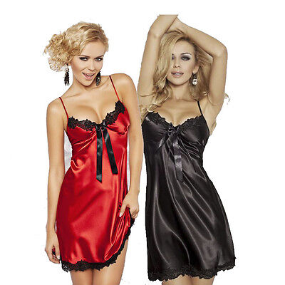 Luxury Satin Chemise Women Nightwear Underwear  Rita  by DKaren