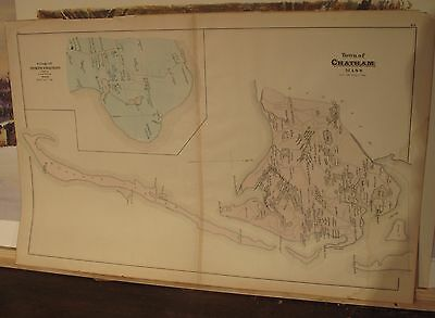 1880 Village Of Chatham ,ma. From Walker Atlas With Property Owners Names