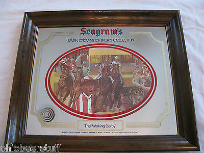Seagram's 7 Whiskey Horse Racing Derby Advertising Mirror Sign Kentucky