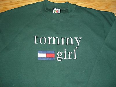 **NICE*BRAND NEW**TOMMY GIRL SWEATSHIRT**Green**Sz XL**BOOTLEG**VINTAGE 90's*BUY