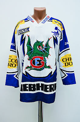 Hc Fribourg-Gotteron Switzerland Signed Ice Hockey Shirt Jersey Ochsner Swiss