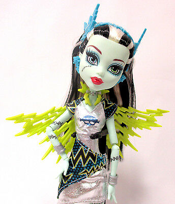 Monster High Power Ghouls Voltageous Frankie Stein Excellent Condition