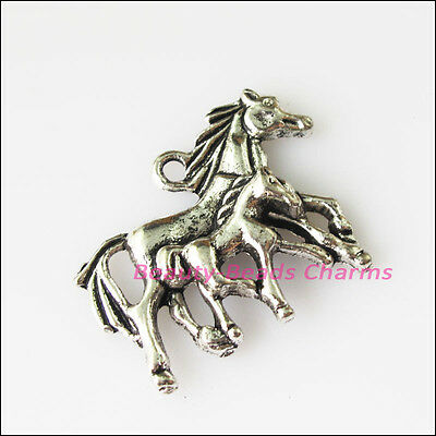 5 New Honey Horses Animal Tibetan Silver Tone Charms Pendants 22x29mm