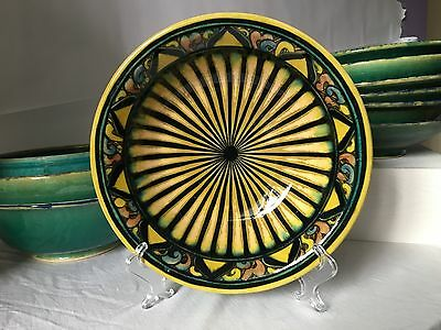 Hand-Painted Persian Ceramic Bowl from the Nazhoo Pottery Studio in Tehran
