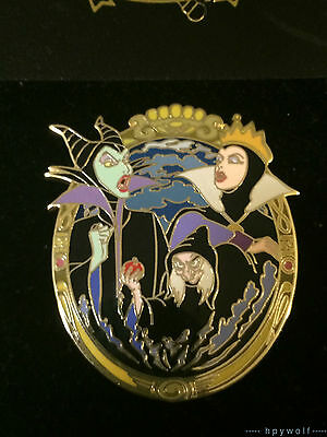 Disney Auctions MALEFICENT, EVIL QUEEN & OLD HAG MIRROR Sleeping Beauty LE Pin
