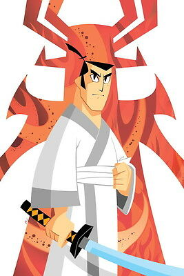 Samurai Jack Signed Autograph Large 12x18 Print By Phil Moy