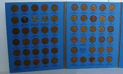 1941 - 1967  LINCOLN CENT COIN SET & BOOK OF COPPER PENNIES k3