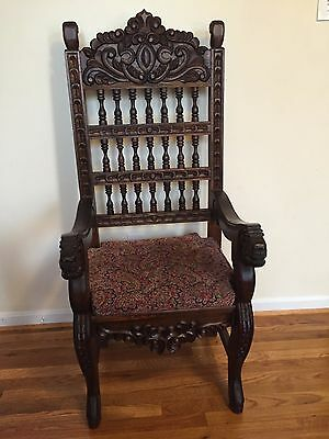 Antique hand carved Italian chair