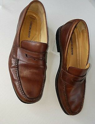 78a28280df6 Johnston   Murphy Ainsworth Penny Loafer Size 13 Tan Dark Brown Full Grain  EUC