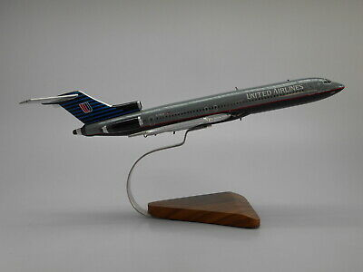 B-727-200 United Airlines Boeing B727 Airplane Wood Model Free Shipping