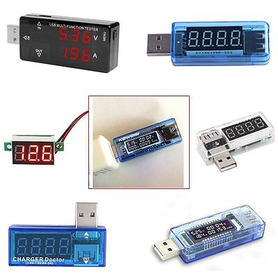 USB Charger Doctor Voltage Current Meter Capacity Tester Power Detector Ammeter.